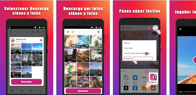 aplicación descargar vídeos de instagram