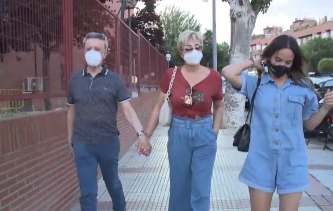 gloria camila, ortega cano y su esposa acuden a la policia