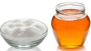miel y azucar para exfoliante